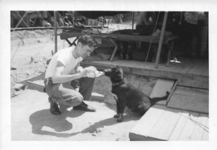 Shiba the beer drinking mascot, 46th MASH, July '53k