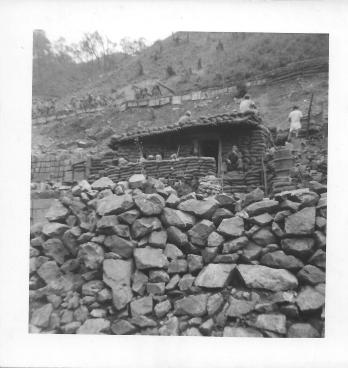 Bunker at Christmas Hill, Korea, July 1953