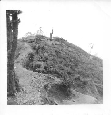 Bunker on top of Christmas Hill, Korea, July, 1953