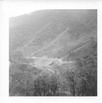 Road back from Christmas Hill, July, 1953