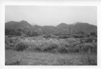 Looking east from the 46th MASH during Chinese offensive. Korea, July 1953