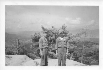 Bohley and Adams, Yang-Gu Pass, Korea, July, 1953