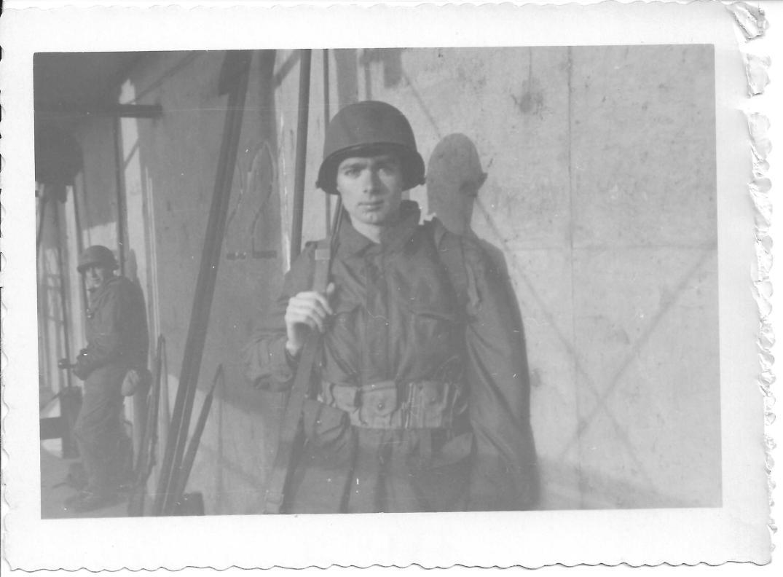 14 MASH Don Feeney Rifle Range pit, Ft Eustis, VA winter 1952