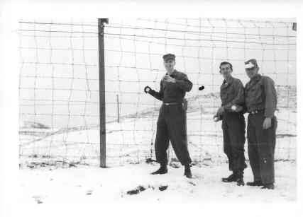 Snowball fight, Don Feeney, Bowes, Goss, 48th MASH, January 1954