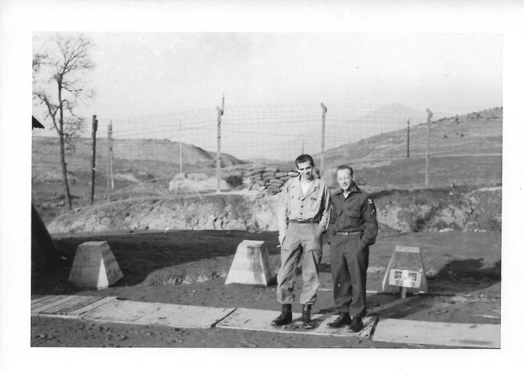 Bowes and Brazzell, January, Korea, 1954