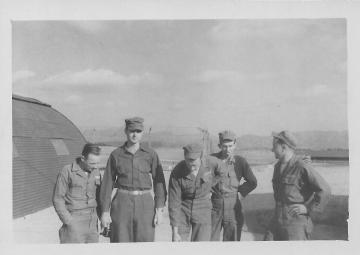 Hemorrhagic Research Team- Braz, Don, Hoyt, Bowes, Barber 45 Evac Hosp, Korea, March, 1954