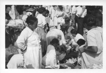 Street scene in Wonju Koream July, 1953