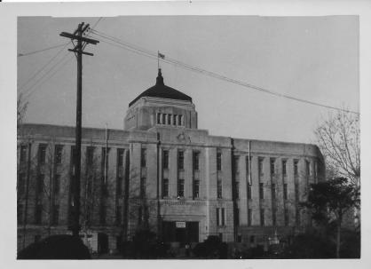 Seoul City Hall, one of the few buildings that escaped bombing, Korea