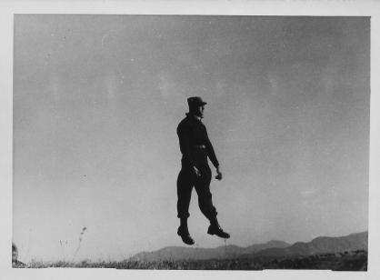 Armond Small in air, Korea, 1953