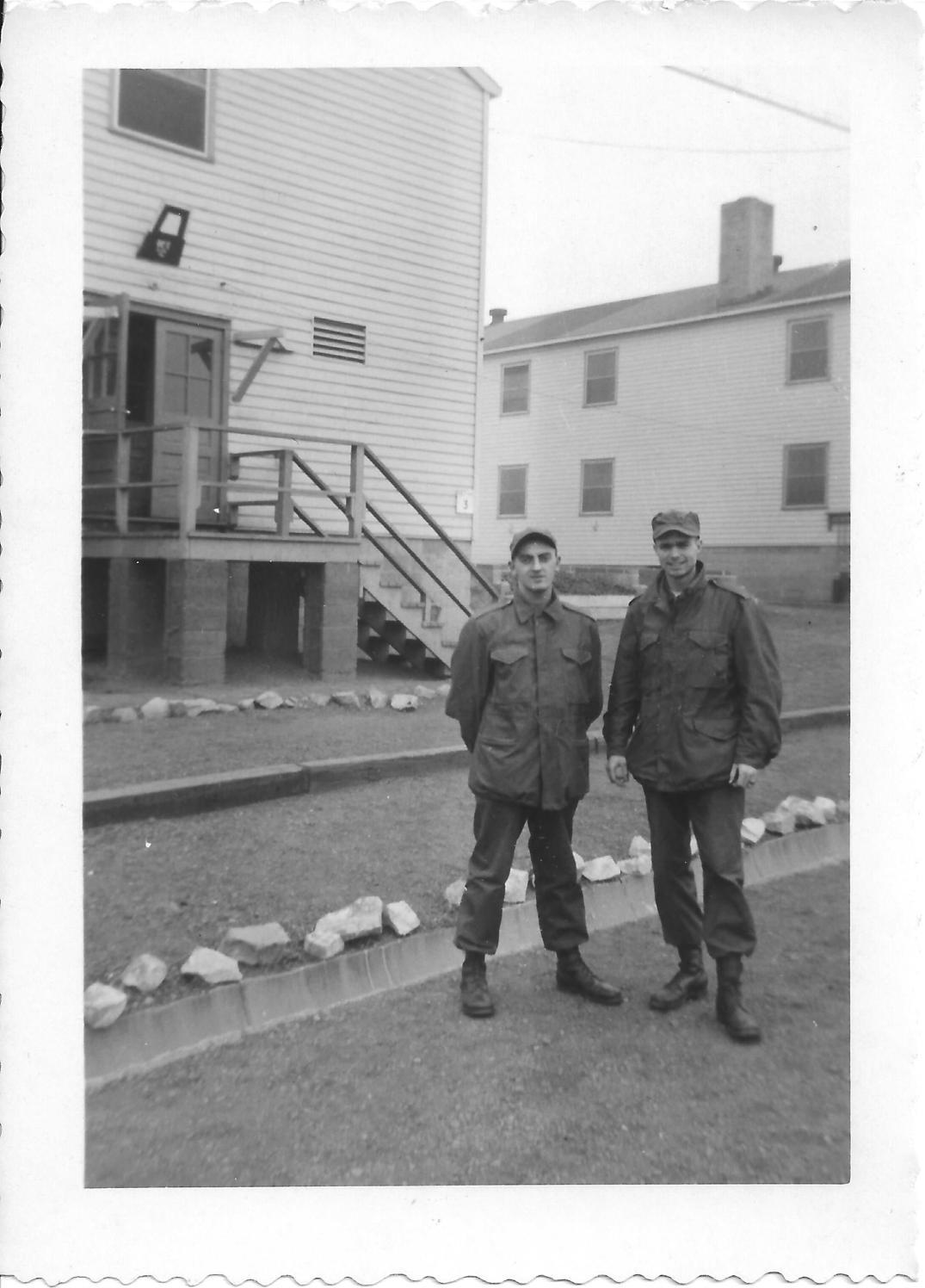 20 MASH Armand and Don Feeney, Camp Kilmer, Nov 1952