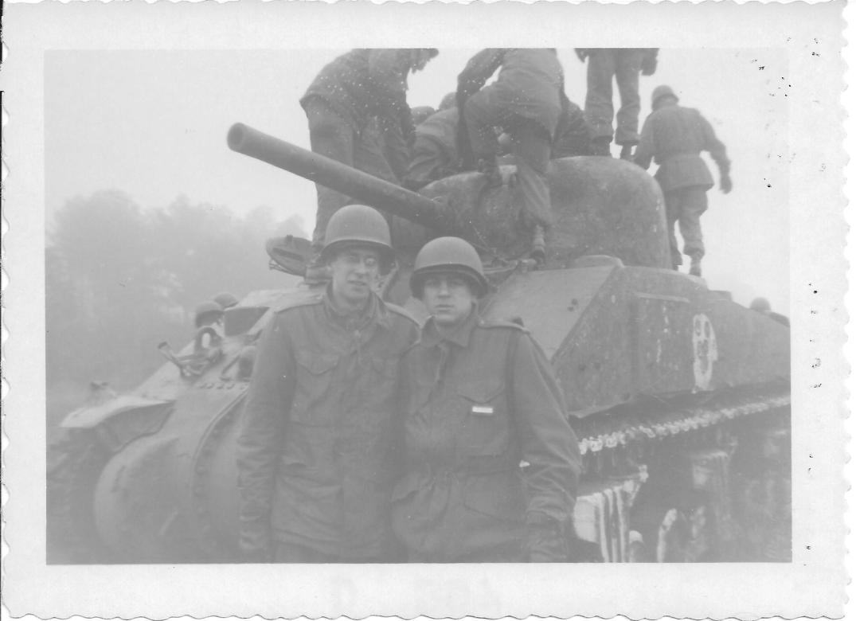 22 MASH Andy L and Bernie F, Ft Eustis, VA 1952