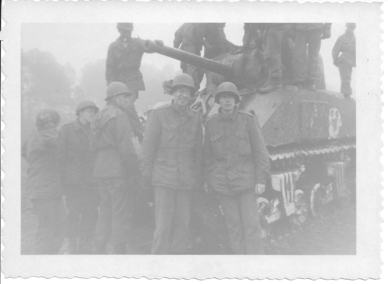 23 MASH Andy L and Don F, Sherman Tank, Ft Eustis, VA 1952