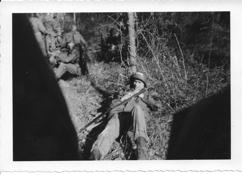 31 MASH Don taking 10, basic training, Ft Eustis VA Jan 1953