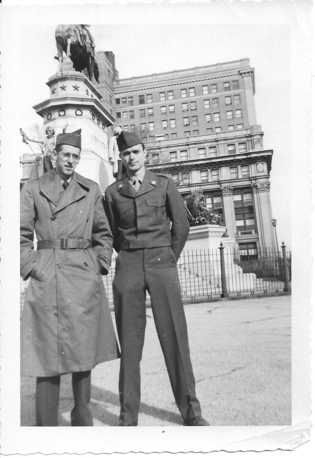 39 MASH Andy Luftig and Don Feeney, Richmond, VA 1952