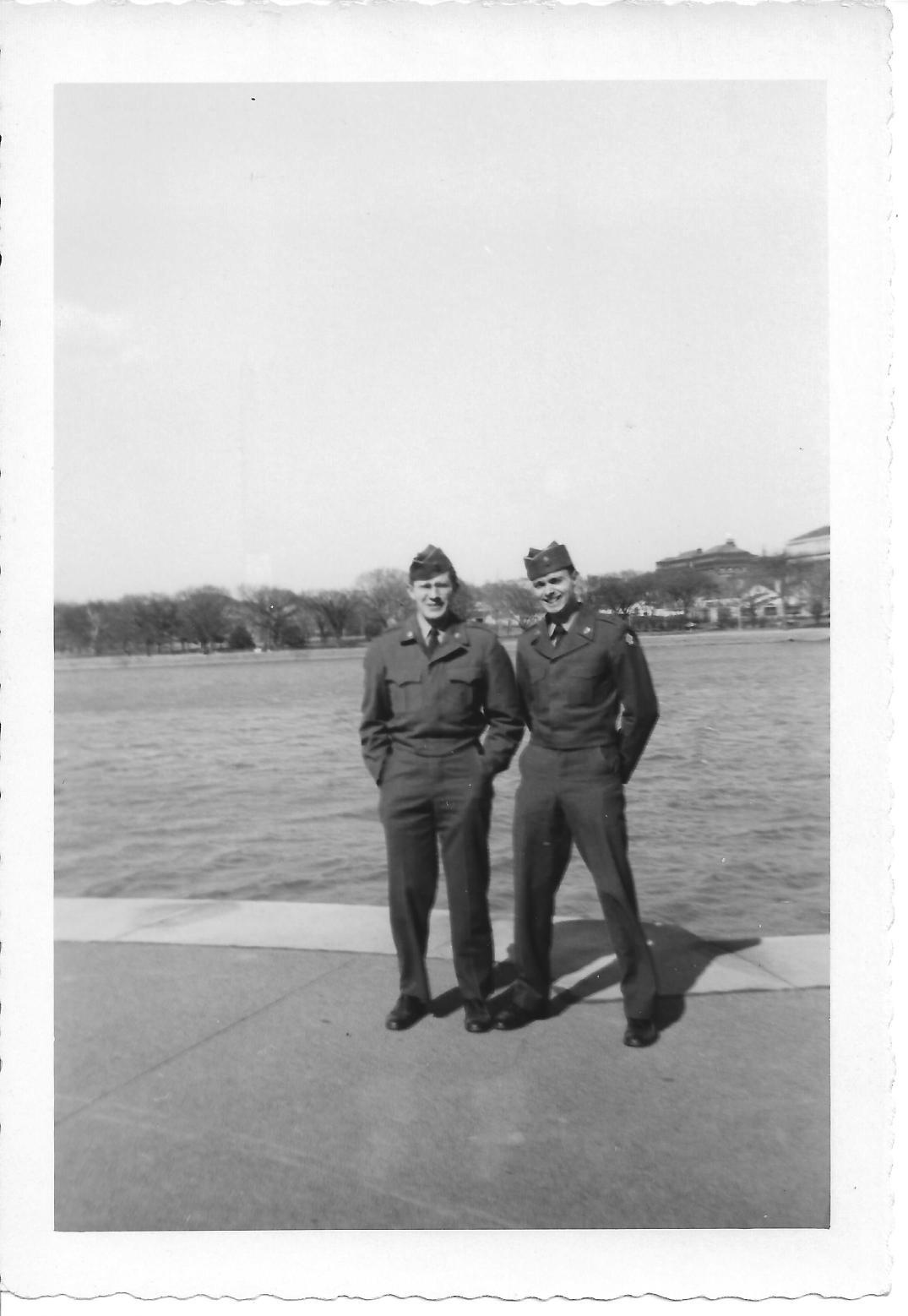 43 MASH Carl Olsen and Don Feeney, Washington DC, early 1953