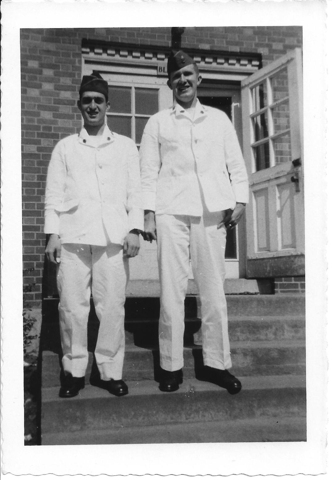 48 MASH Chuck Mazzone and Carl Olsen at Walter Reed, May 1953