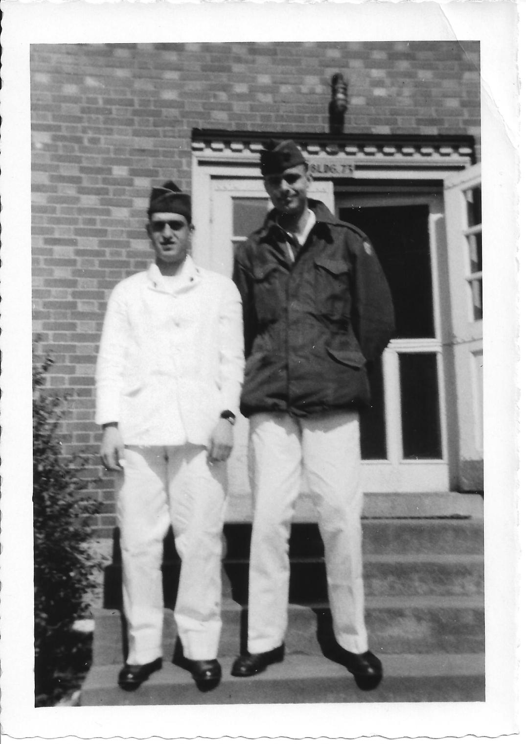 49 MASH Chuck Mazzone and Don Feeney at Walter Reed, May 1953