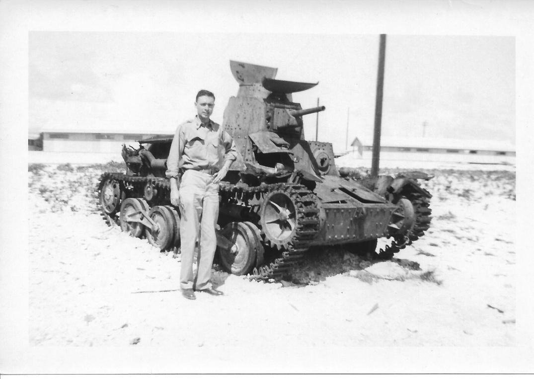 60 MASH Don Feeney, Wake Island, Japanese Tank, June 1953