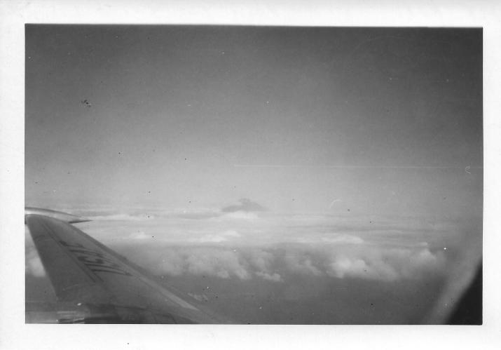 Mt Fuji from C-124 Globemaster, Japan, July 1953