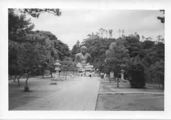 Great Buddha at Kamakura, Japan, July 1953