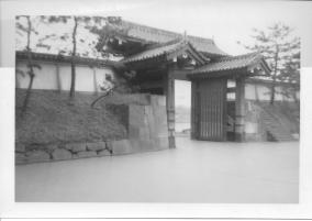Diet Building seen between Sakura Gate of Imperial Palace, Tokyo, 1953
