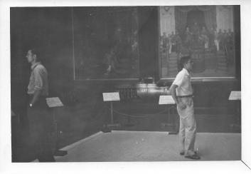 Don Feeney and George Yip at Meiji Historical Museum, Oct 1953