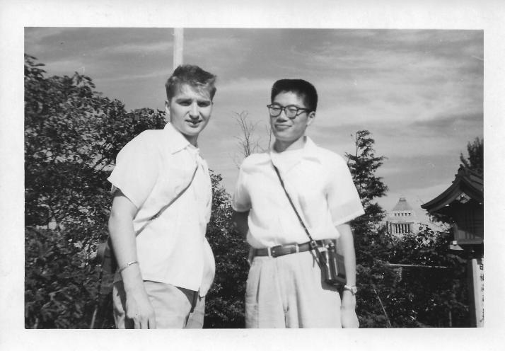 Gene Pohutsky, George Yip, Tokyo, October 1953