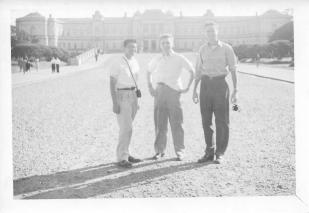 George Yip, Gene Pohutsky, Don Feeney, Tokyo, Oct 1953