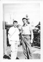 Gene Pohutsky and Don Feeney, Tokyo, Fall, 1953