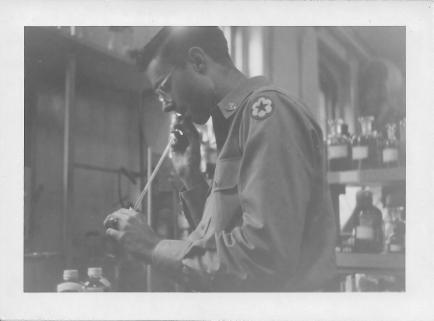Don Feeney, Chemistry Lab, 406th Medical General Laboratory, Toyko, Japan, 1953