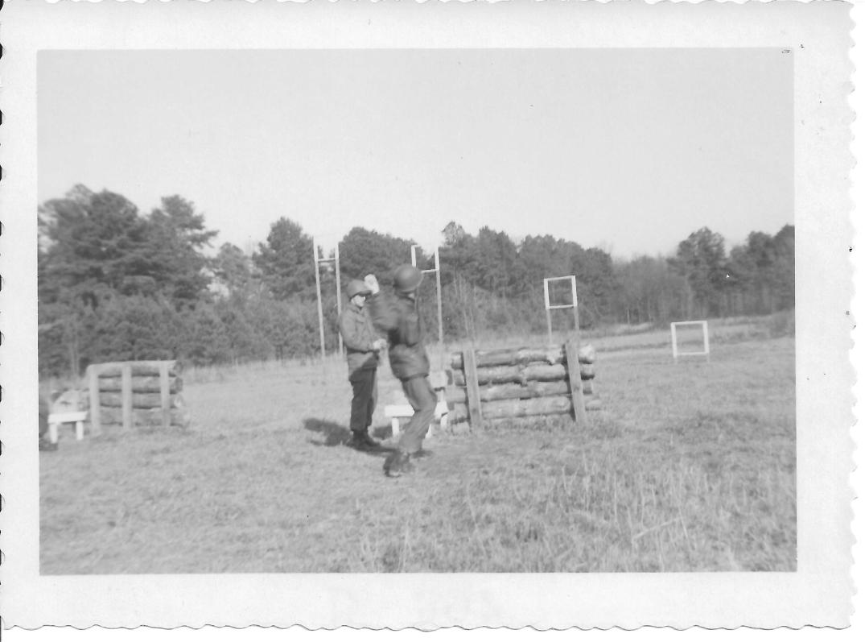 9 MASH Throwing grenade, Ft Eustis, VA 1952