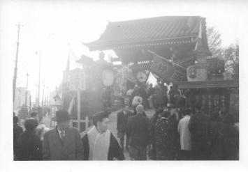 Entrance to Shrine, Tokyo, 1953
